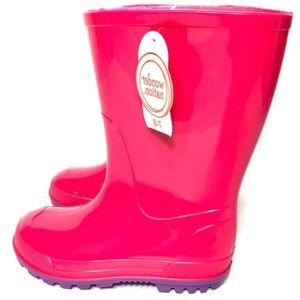 NWT Wonder Nation Toddler Girl Rain Boots Sz 7-8